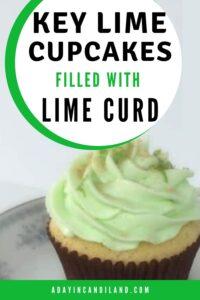 Key lime cupcake on plate