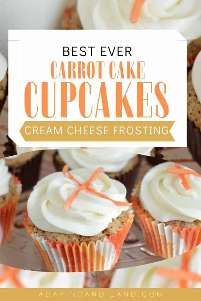 Plate of carrot cake cupcakes