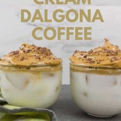 Irish Cream Dalgona Coffee