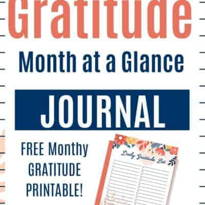 Spring Daily Gratitude Printable