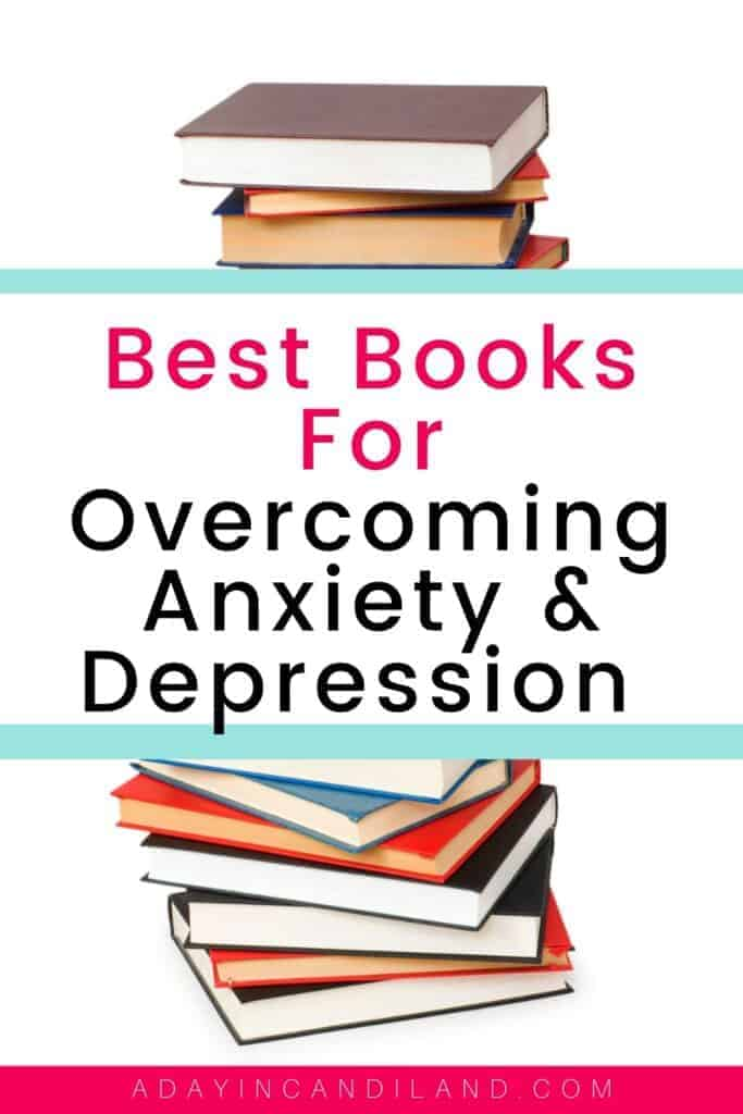 Stack of Books on Overcoming Anxiety