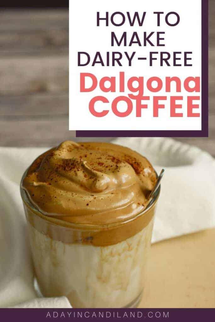 Glass of Dalgona Iced Coffee