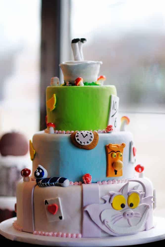 An Alice in Wonderland custom cake