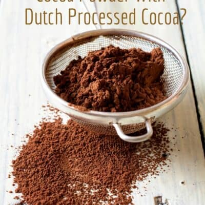 Can you substitute Dutch Cocoa for Cocoa powder?