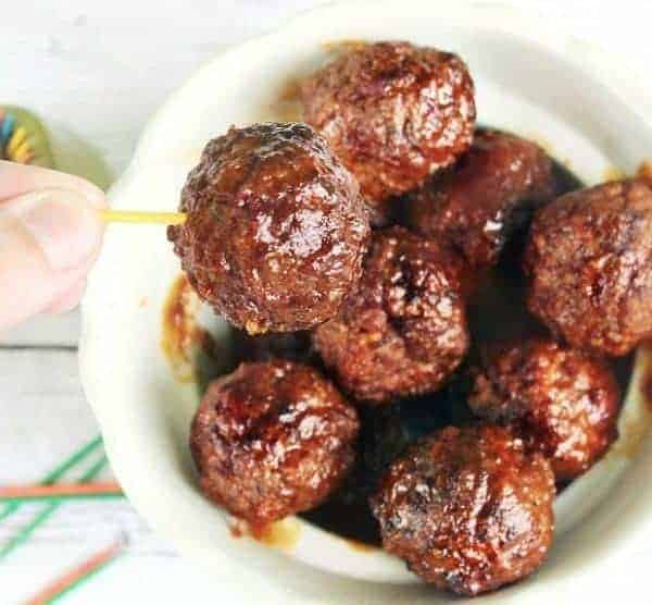 Slow cooker low-carb meatballs