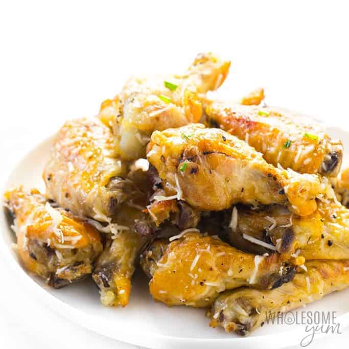 slow cooker garlic parm chicken wings