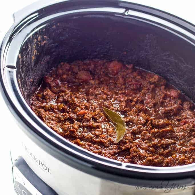 low-carb chili in the crockpot