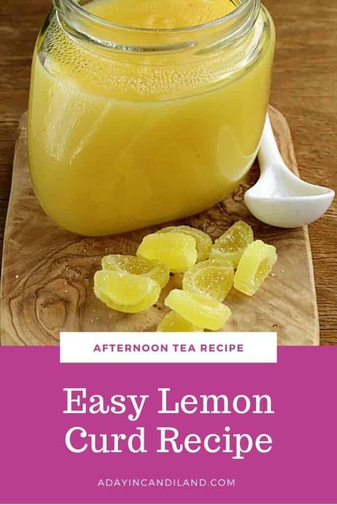 Lemon Curd in a glass jar
