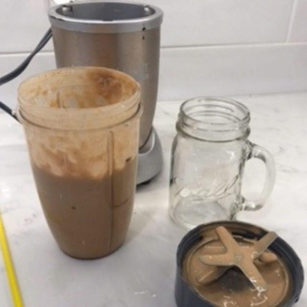 Nutribullet blender with Pumpkin Protein Shake