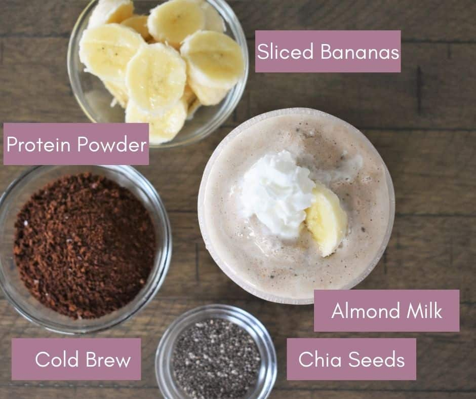Ingredients to go into smoothie