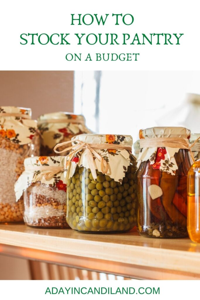 Canning Jars in a pantry