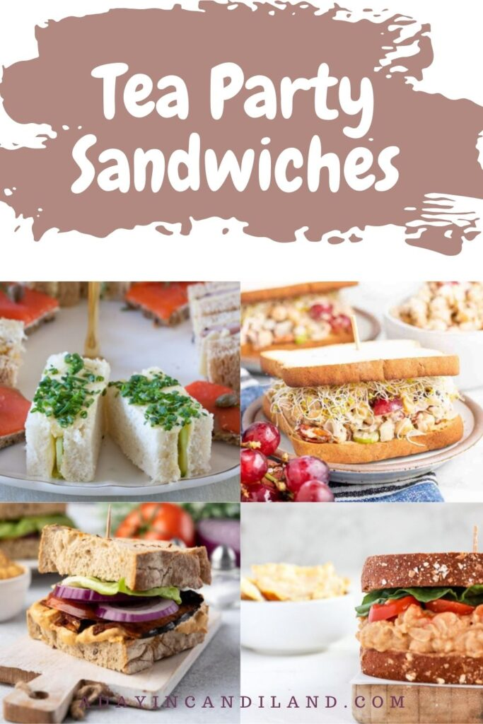 4 Pictures of different Tea Sandwiches