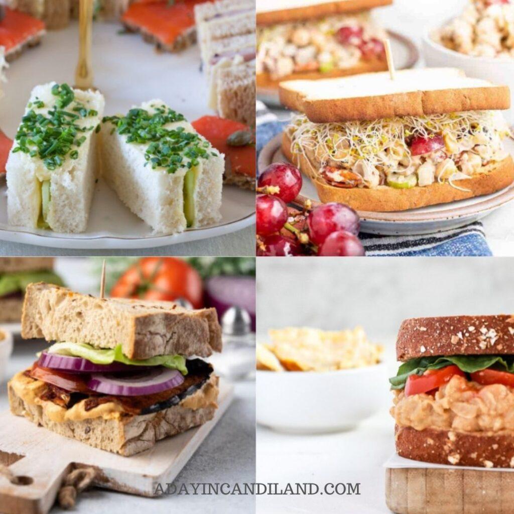 4 Different Tea Sandwiches