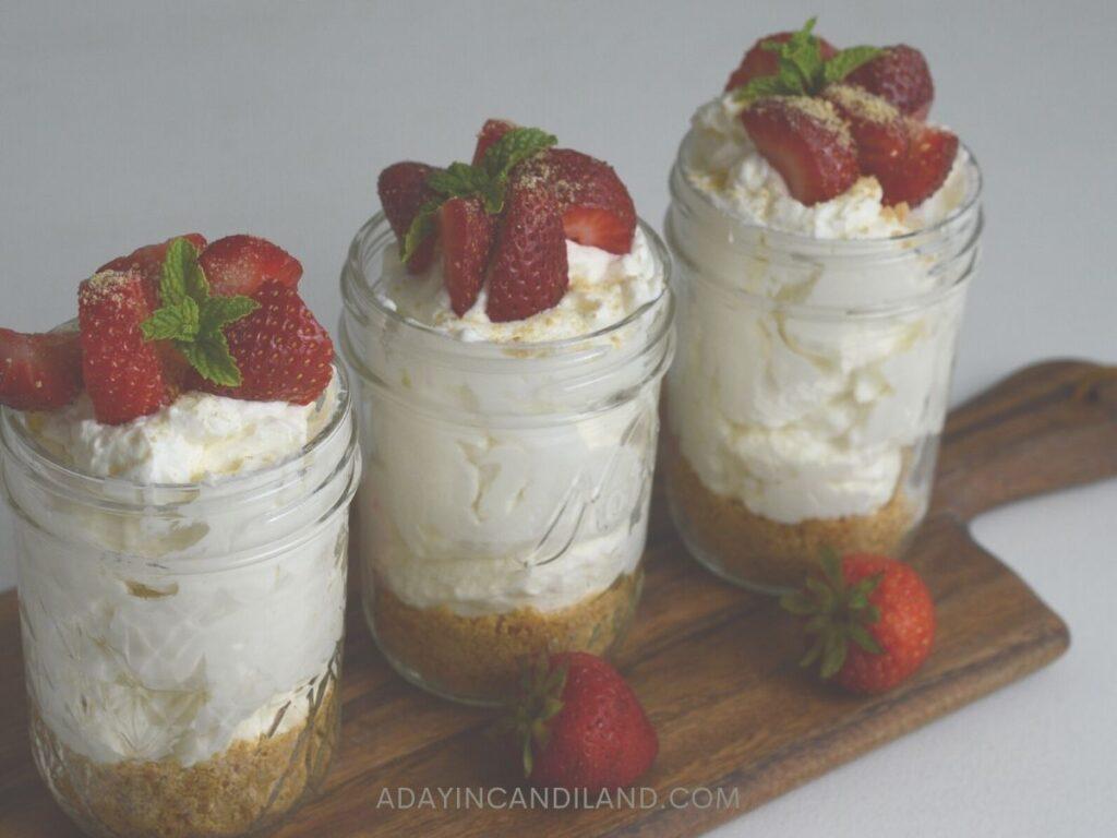 3 Jars of Strawberry Cheesecake