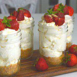 4 Jars of Strawberry Cheesecake on board