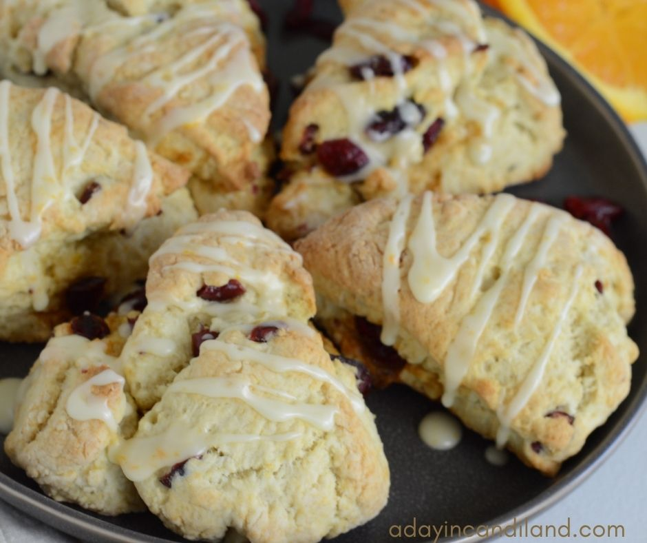 Plate of 5 Cranberry Scones